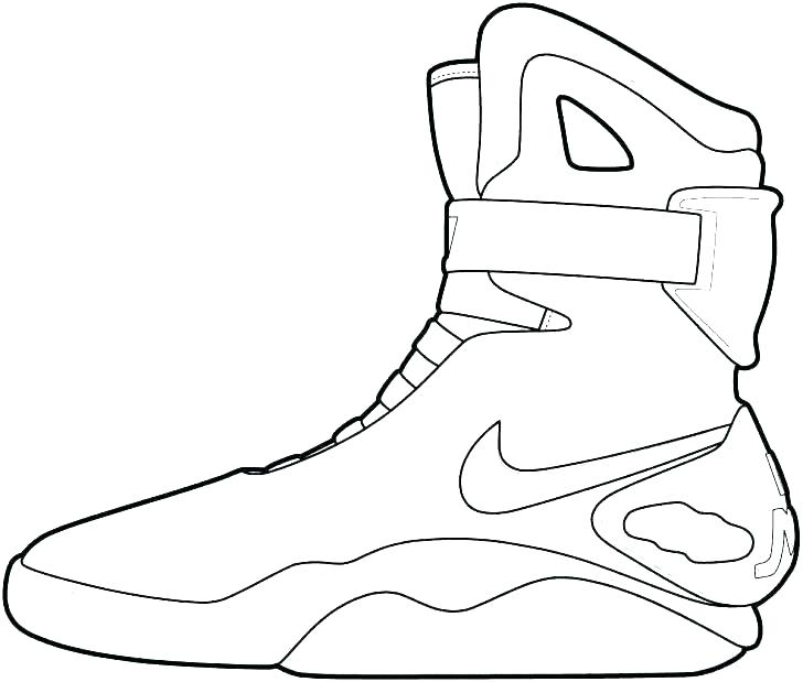 728x619 Nike Shoes Coloring Pages