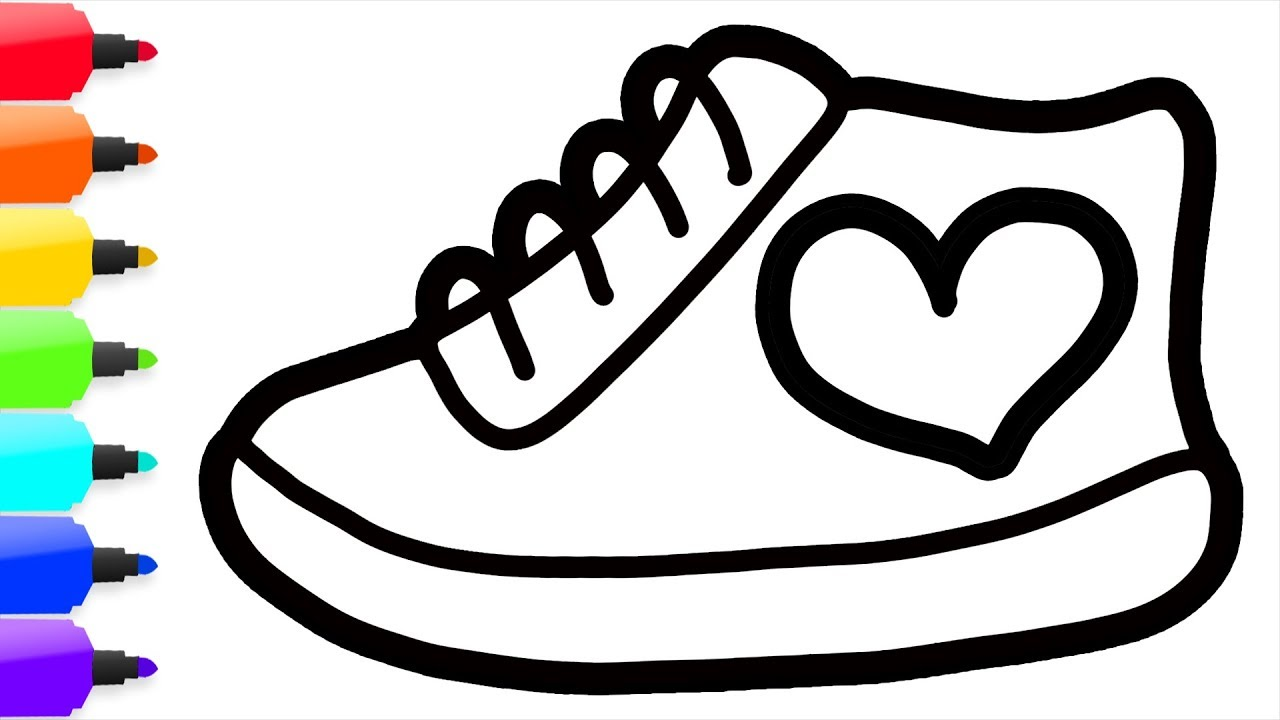 Kids Shoes Drawing | Free download best Kids Shoes Drawing ...