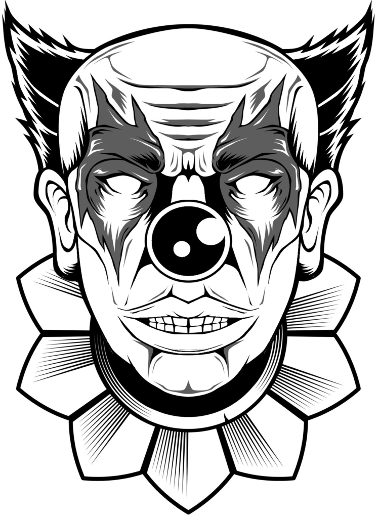 Killer Clown Drawings   Free download on ClipArtMag