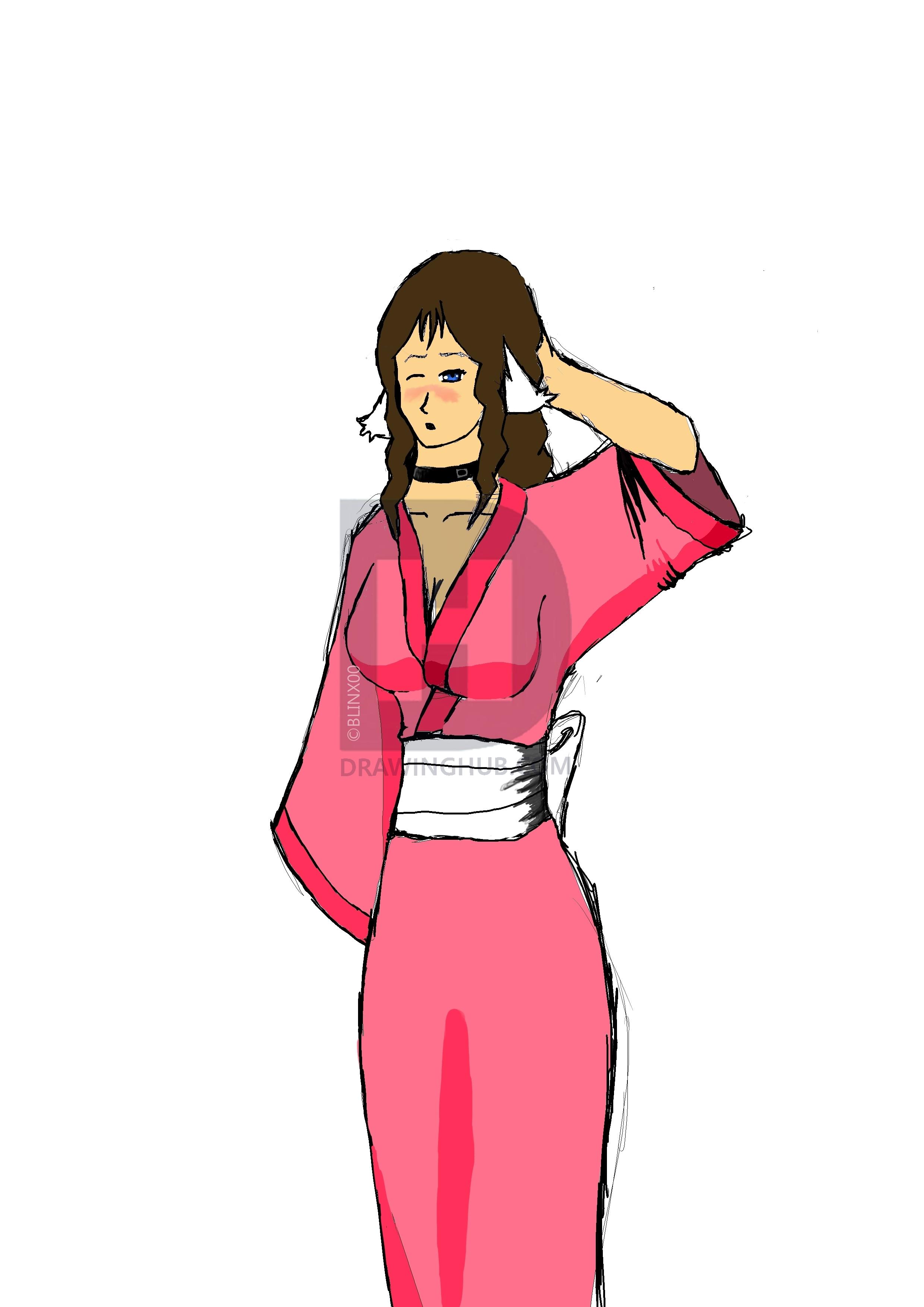 2480x3508 juliet in a kimono drawing
