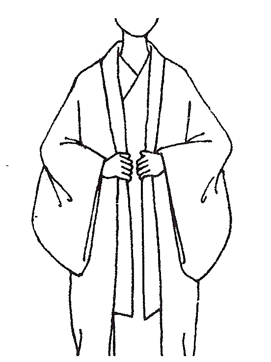 552x736 kimono drawing flat for free download