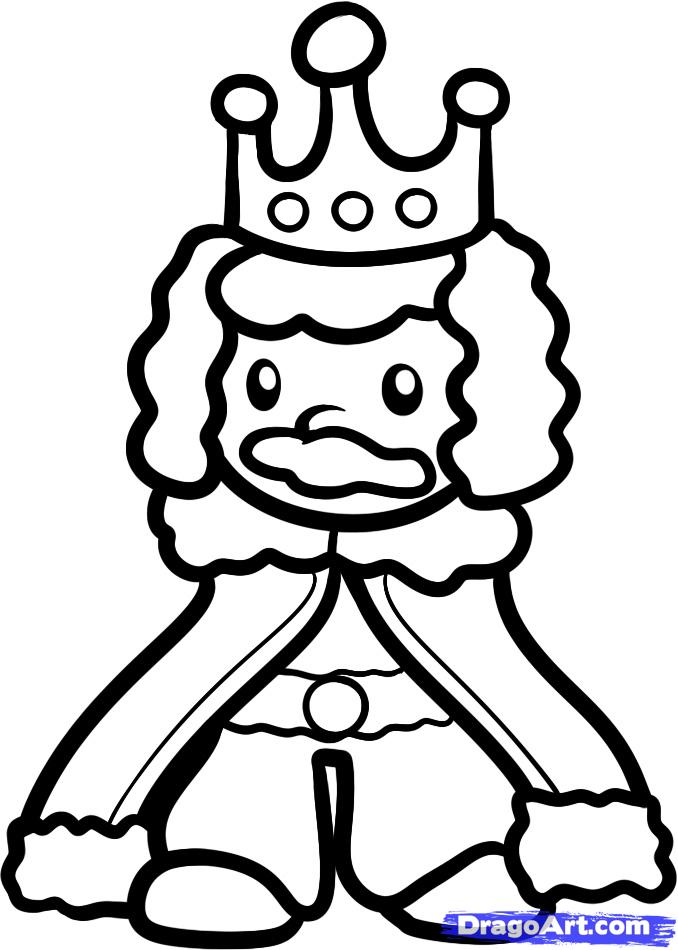 678x950 How To Draw A King For Kids, Step