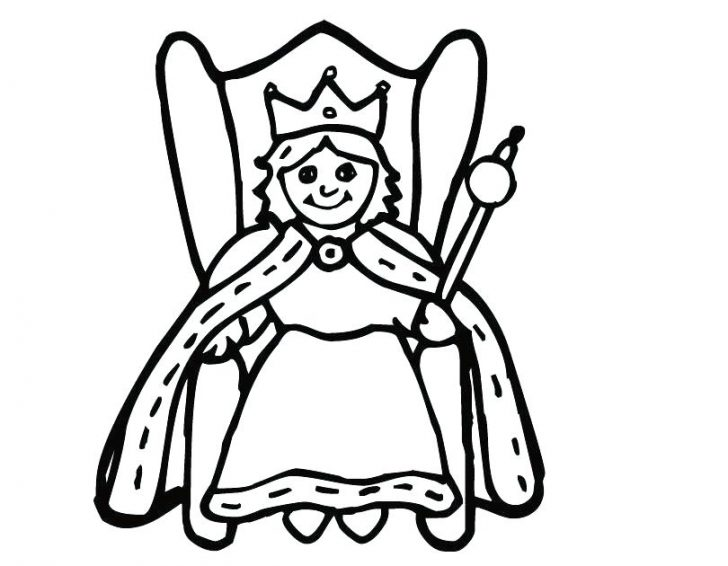 728x566 King And Queen Crown Coloring Pages Of Crowns Princess