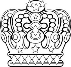 236x225 King And Queen Crown Coloring Pages