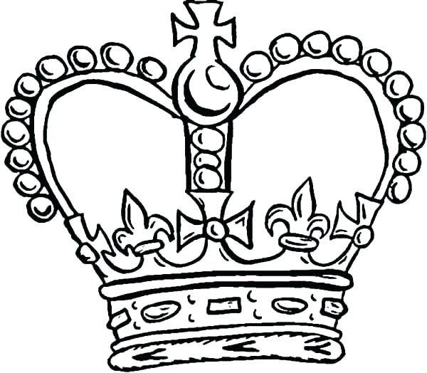 600x524 King Crown Coloring