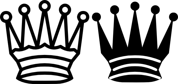 600x283 King And Queen Crown Graphic Black And White Library Huge