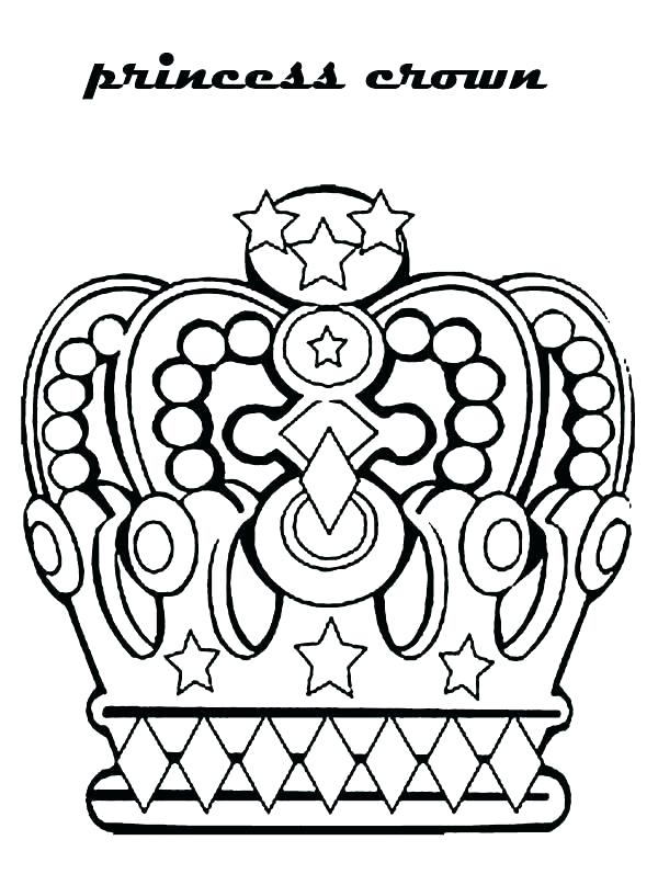 600x797 Princess Crown Coloring