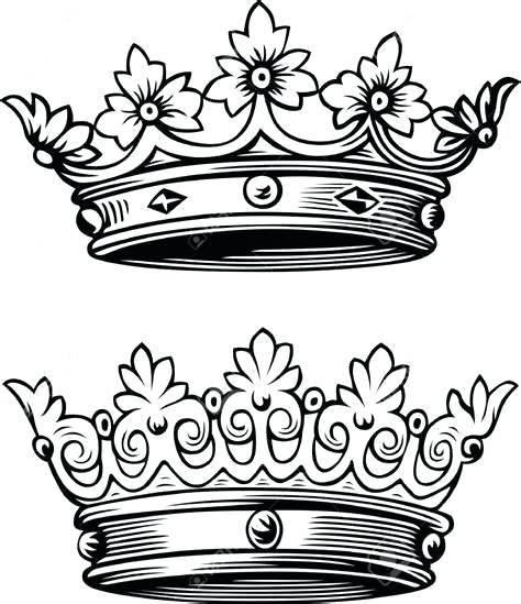 474x549 King And Queen Crowns Drawings Stylishsoul