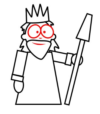 350x400 Drawing A Cartoon King