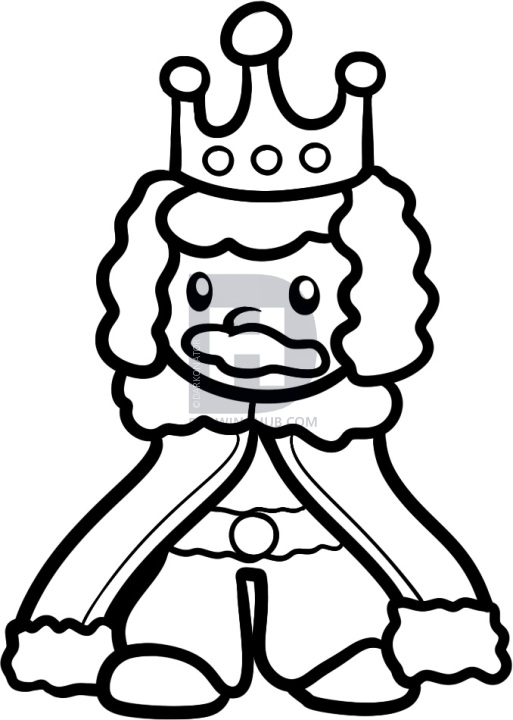 513x720 How To Draw A King For Kids, Step