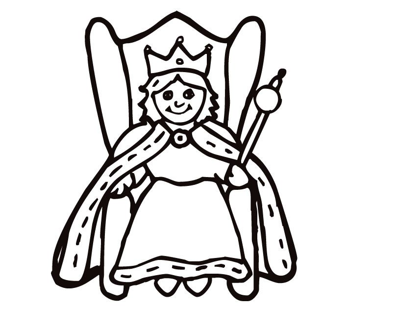 810x630 King And Queen Coloring Pages