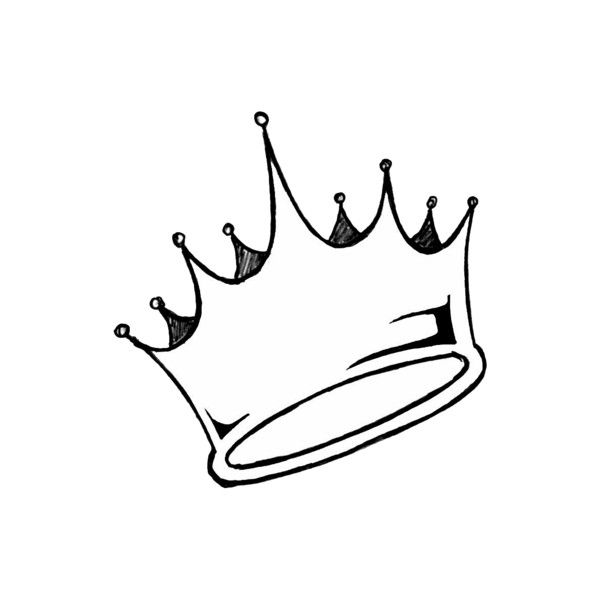 600x600 Tumblr Found On Polyvore Basiczjm Crown Drawing, Princess