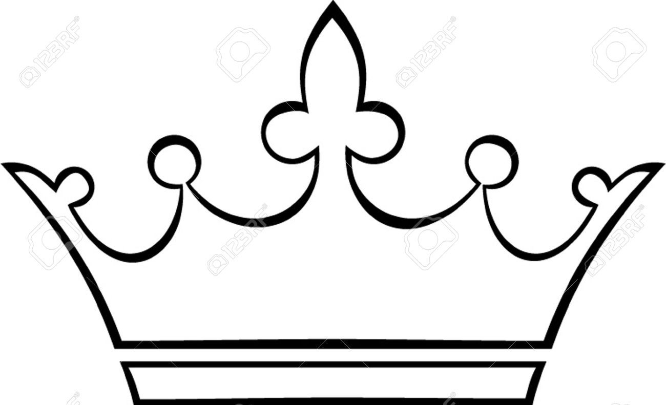 1300x791 King Crown Drawing