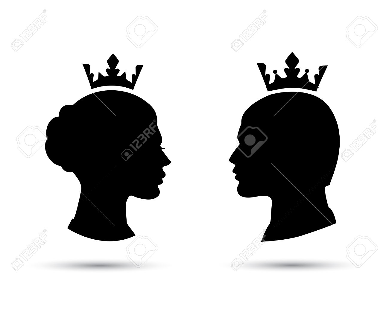 1300x1083 African King And Queen Silhouette