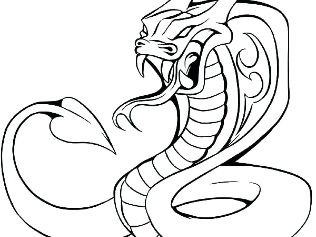 1024x768 king cobra coloring pages anaconda snake for colouring color