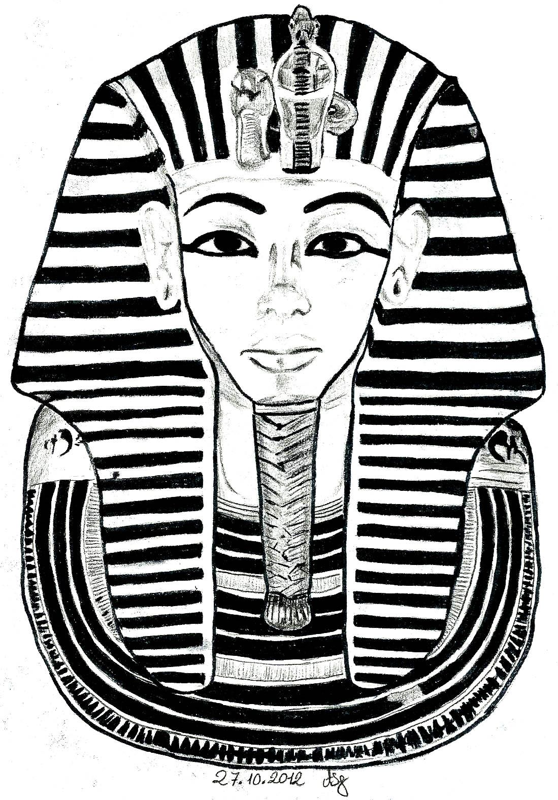 king tut drawing free on clipartmag