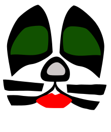 219x260 Filekiss Cat Face Stuff Kiss Band, Kiss Music, Kiss Face