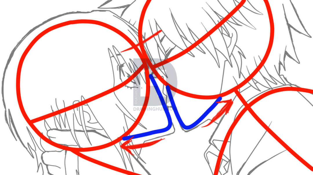 1080x606 How To Sketch An Anime Kiss, Step