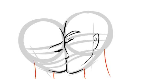 550x309 How To Draw People Kissing