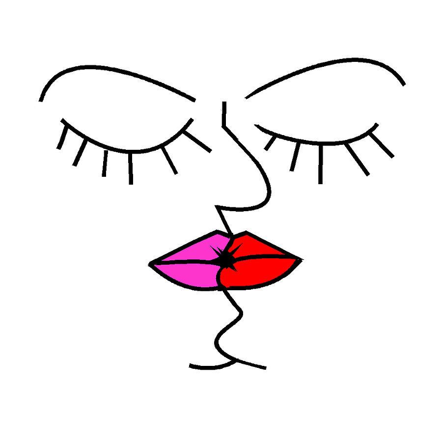 900x900 Kiss Me Drawing