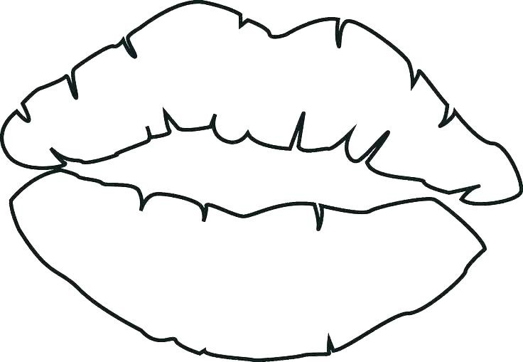 736x509 Lips Kissing Drawing Awesome Of Coloring Pages Stock