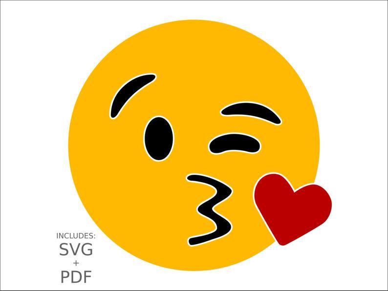 794x596 kiss emoji wink kiss face clipart kissing smiley face etsy