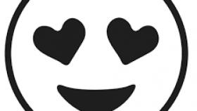 280x158 kissy face emoji black and white the emoji