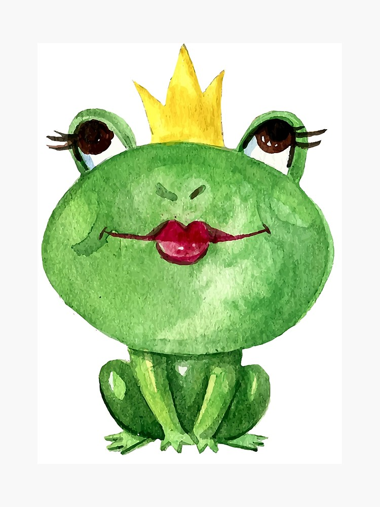 750x1000 kissy face frog princess photographic print