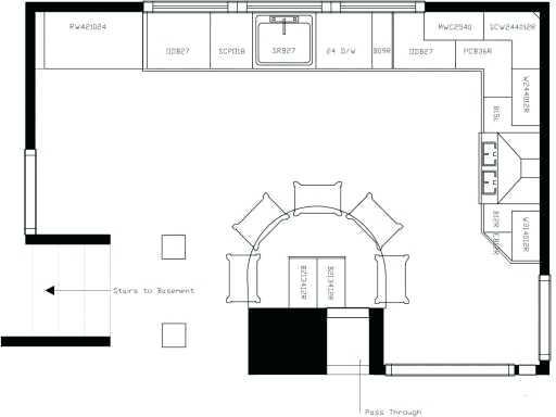 512x384 u shaped kitchen design drawings kitchen plans with island kitchen