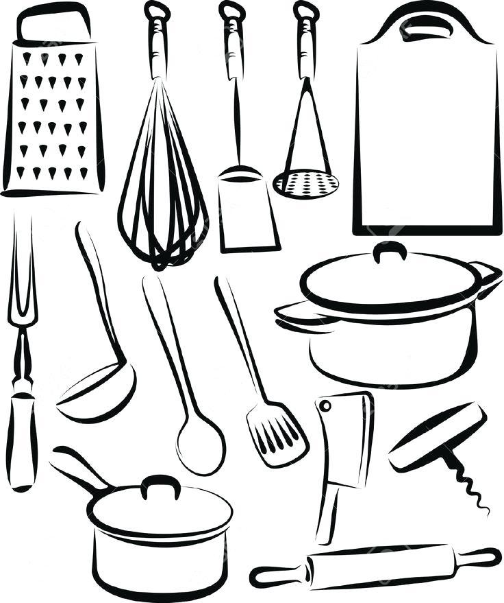 736x879 kitchen utensils border clipart border kitchen kitchen sinks lowes