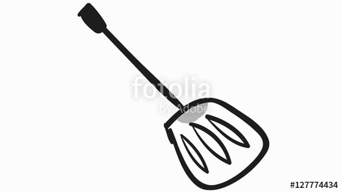 500x281 Spoon Kitchen Utensils Cooking Accessories Line Drawing Animation