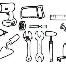 230x230 Well Suited Design Kitchen Tools Coloring Pages Drawing
