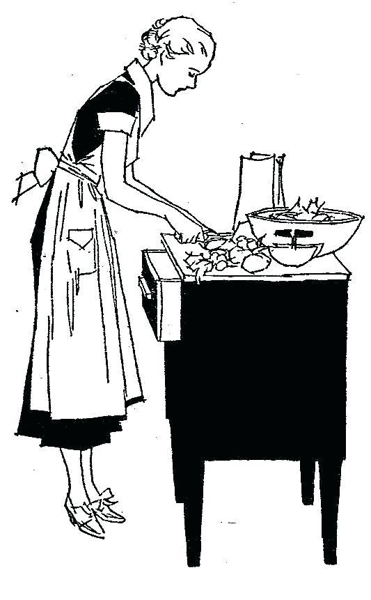 533x861 Kitchen Utensils Clipart Black And White