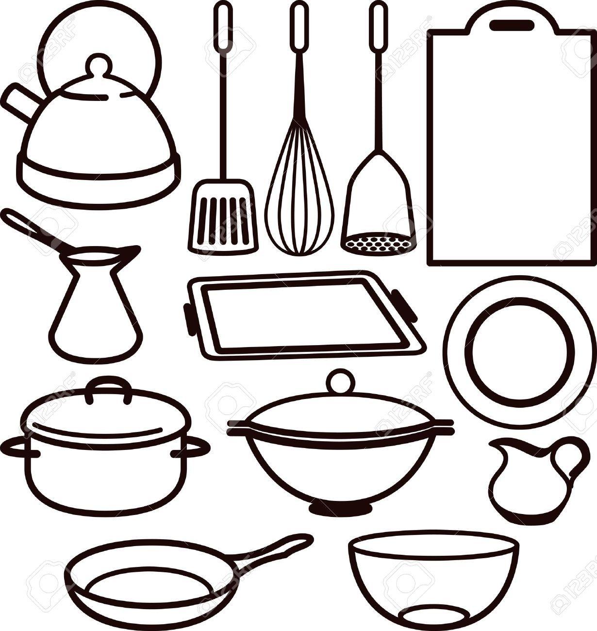 1230x1300 Best Of Cooking Utensil Clipart Black R E C I P E B O O K