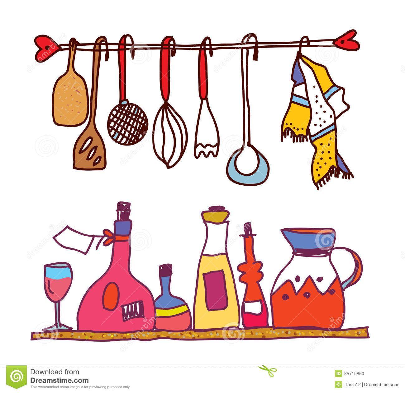 1300x1264 kitchen utensils art drawing fig kitchen utensils artwork kitchen