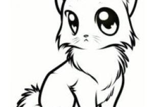 300x210 Cute Kitten Drawing Easy Drawing A Cartoon Tabby Cat Face Art
