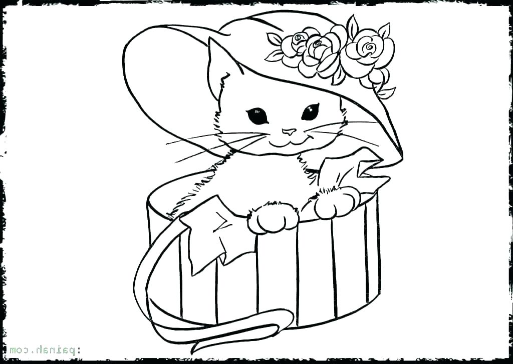 1024x728 Cute Kitten Drawings Coloring Cute Kitten Drawing Images