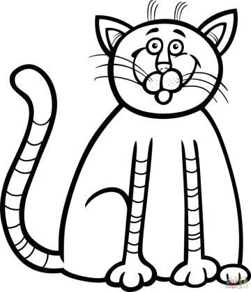 360x420 Draw A Kitten How To Draw Kittens Step Tutorials Draw Easy Kitten