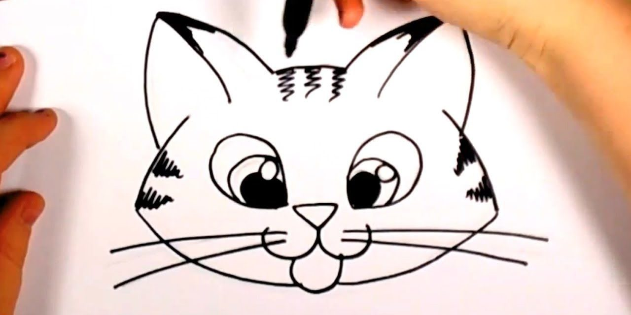 1280x640 How To Draw A Cute Kitten Face