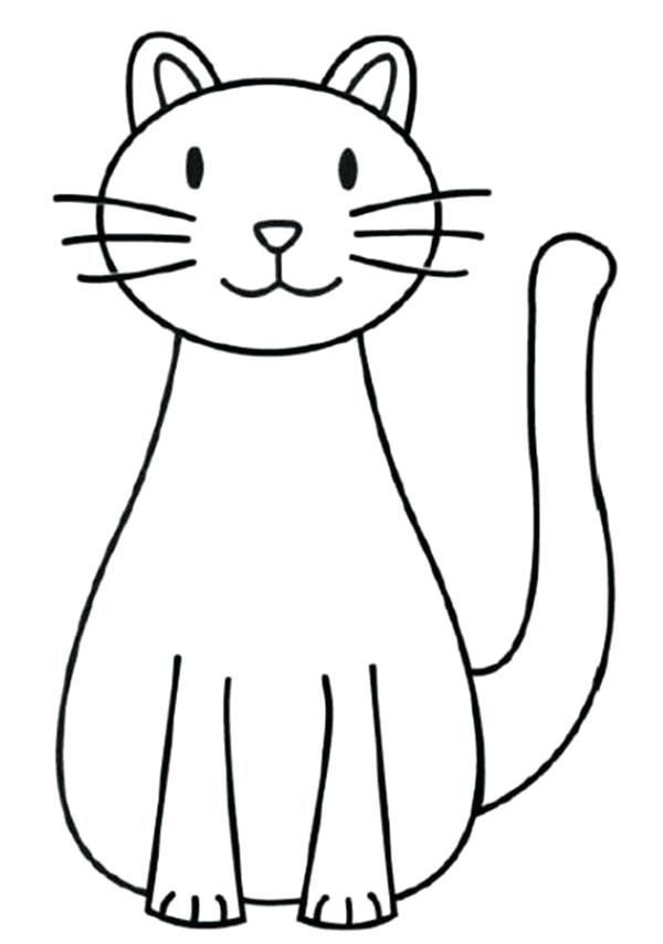600x855 How To Draw A Kitten For Kids A Simple Drawing Of Kitty Cat