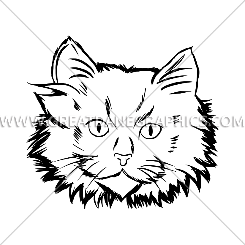 825x825 White Kitten Face Production Ready Artwork For T Shirt Printing