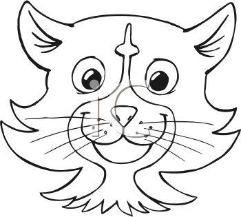 350x315 Cartoon Cat Face Clip Art Cat Face Drawing Cartoon Kitten Face