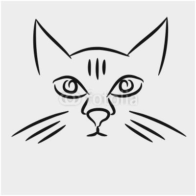 400x400 Cartoon Easy Cat Face Drawing