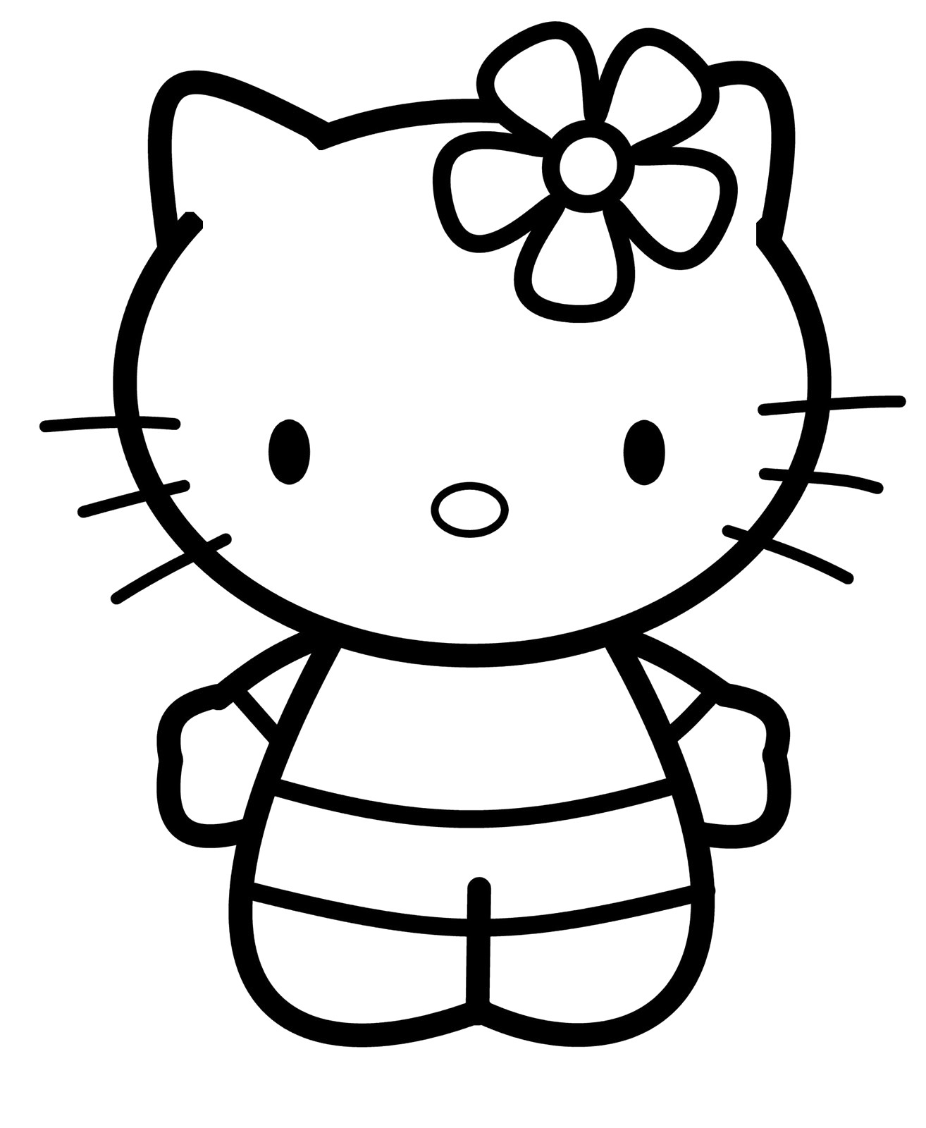 1314x1600 Face Hello Kitty How To Draw Youtube Easy Drawing Drawn