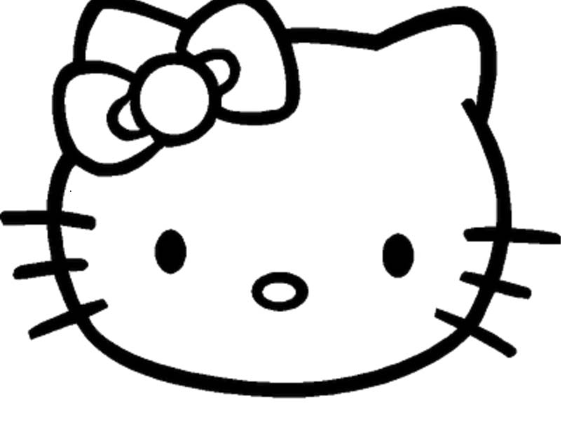 829x613 Hello Kitty Face Coloring Pages