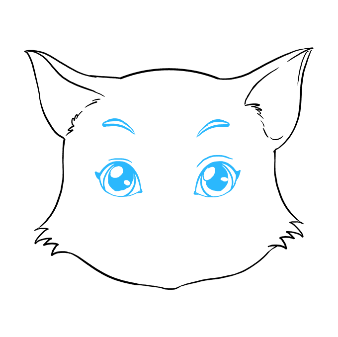 680x678 How To Draw A Cat Face