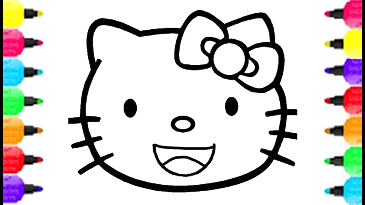 1280x720 Kitty Drawing Easy How To Draw Hello Face