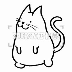 250x250 Cat Face Drawing Black And White A Simple Images Cute I Fertility