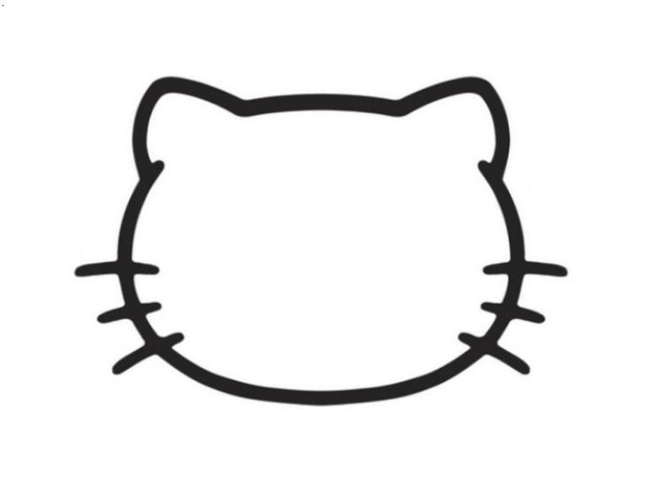 736x541 Hello Kitty Face Outline