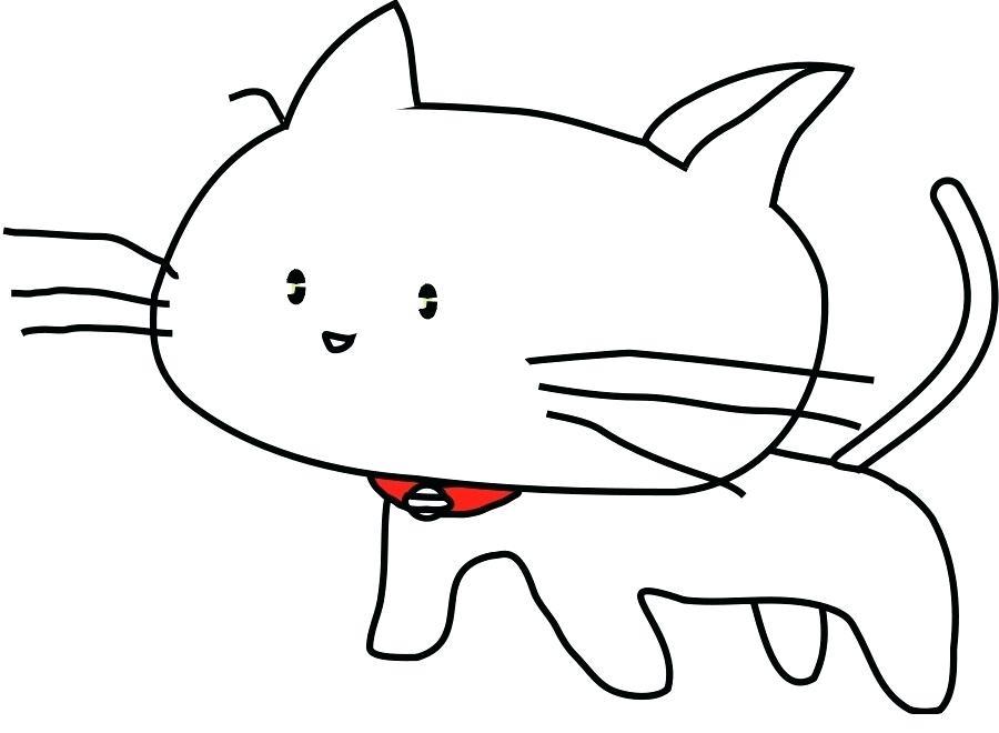 900x660 Kitty Cat Drawing Running